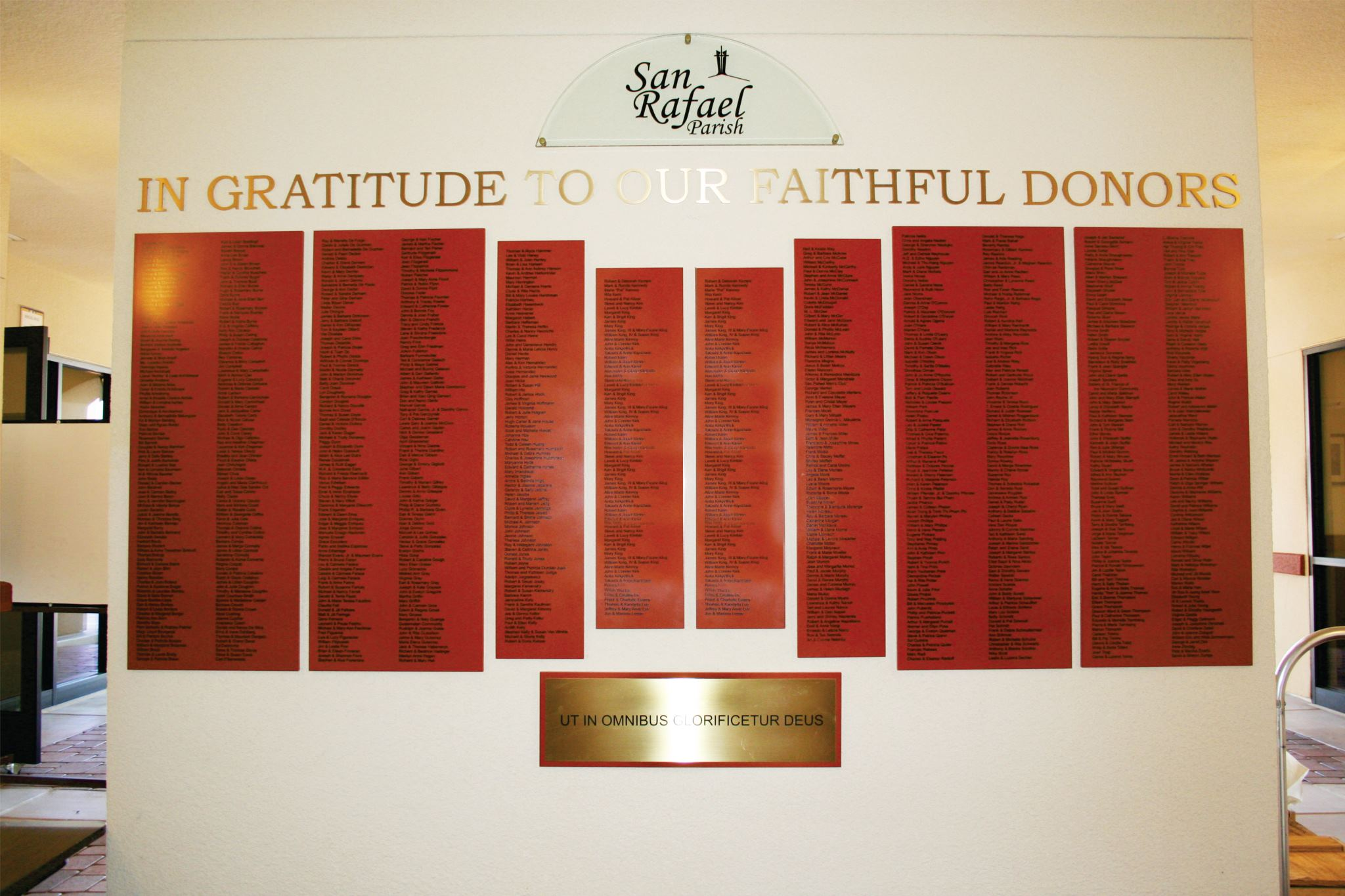Donor Recognition Walls Gallery W Amp E Baum Church